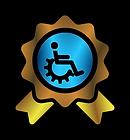 Insignia de Totalmente Adaptado para Personas con Diversidad Funcional