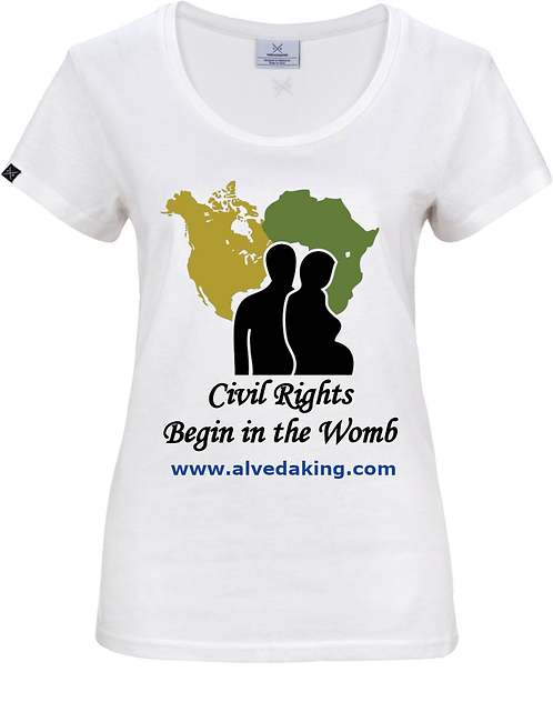 Women's T-Shirt - Civil Rights Begin in the Womb
