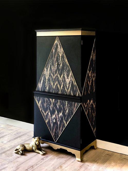 Luxe Art Deco Drinks Cabinet