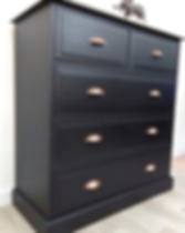 Relove Your Furniture Black Chest of Dra