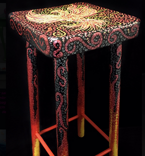 Decorated Stool by When I Decorate Thing