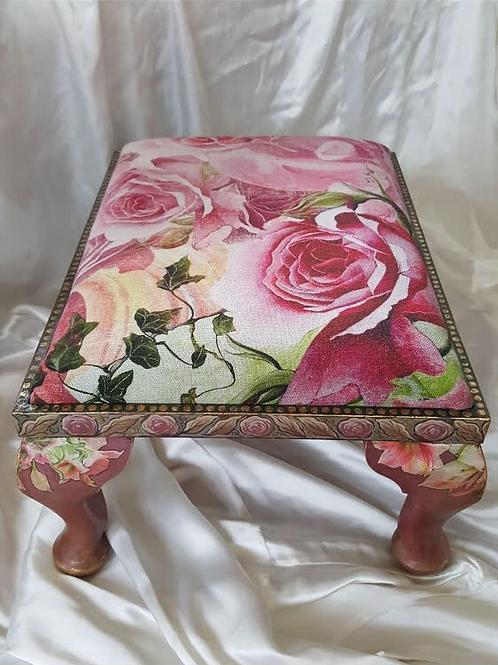 Vintage Rose Footstool