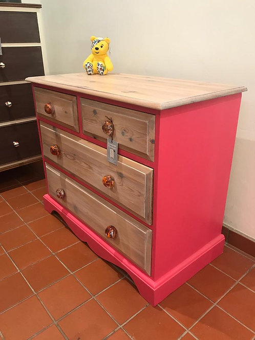 Country Pink Chest of Drawers