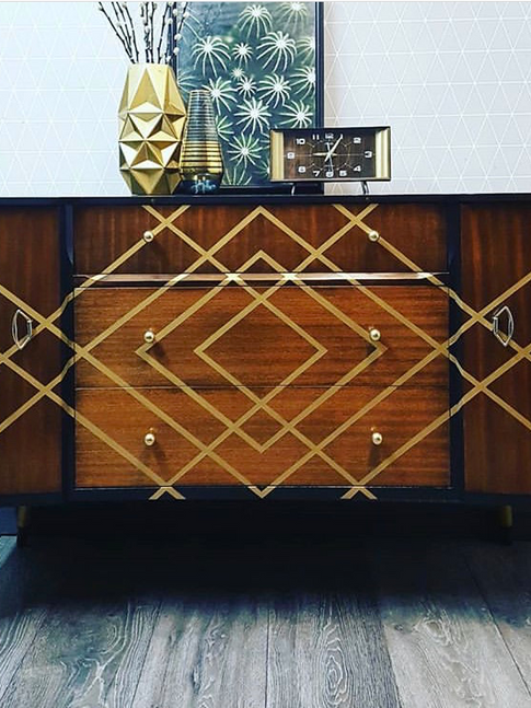 Upcycled Midcentury Sideboard from Done