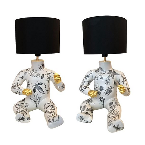 Twin Mannequin Table Lights