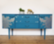 Handsome Vintage Blue Sideboard.png