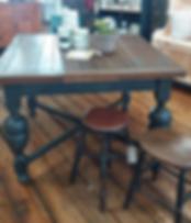 Copper & Ash Oak Draw Leaf Dining Table.