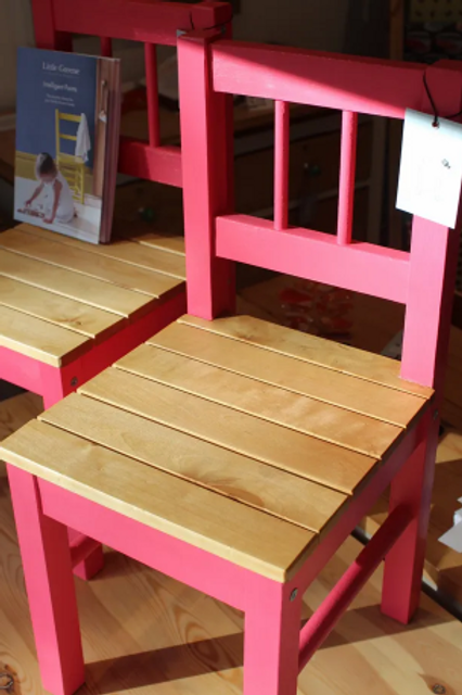 Country Pink Children's Chairs (Pair)