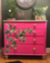 Home Revival Shocking Pink Chest of Draw