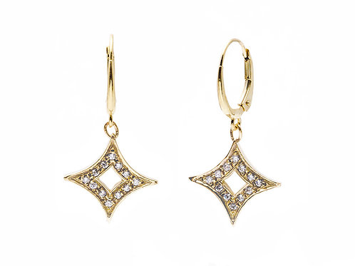 Stardust Dangle Earrings with Stones