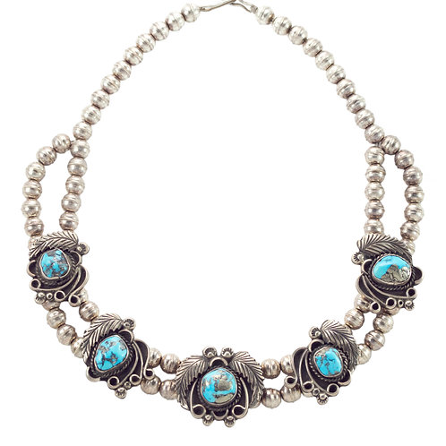 Turquoise + Feathers Necklace