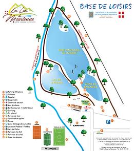 plan base de loisirs camping savoie vacance