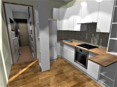 Projekt poglądowy zabudowy kuchennej