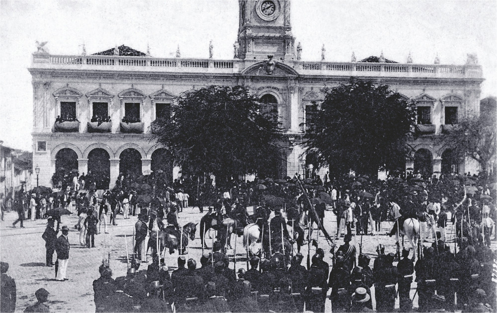 Rio de Janeiro em 15 de novembro de 1889. Imagem: Agência Brasil