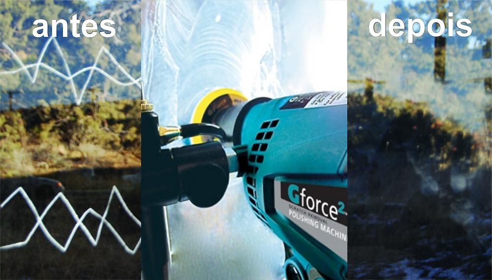GFORCE2 -  antes e depois/Jornal do Vidro
