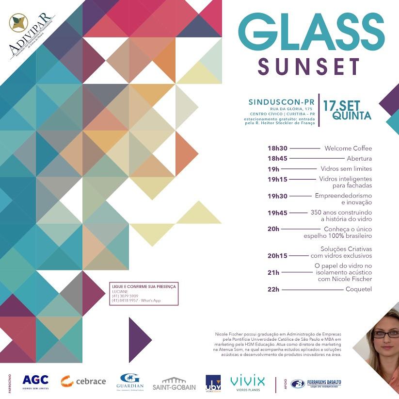 Convite para a GLASS SUNSET
