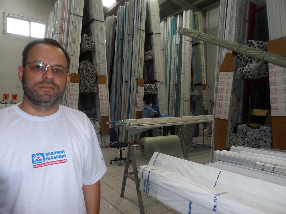 Rogério Miranda, diretor da Miranda Alumínios