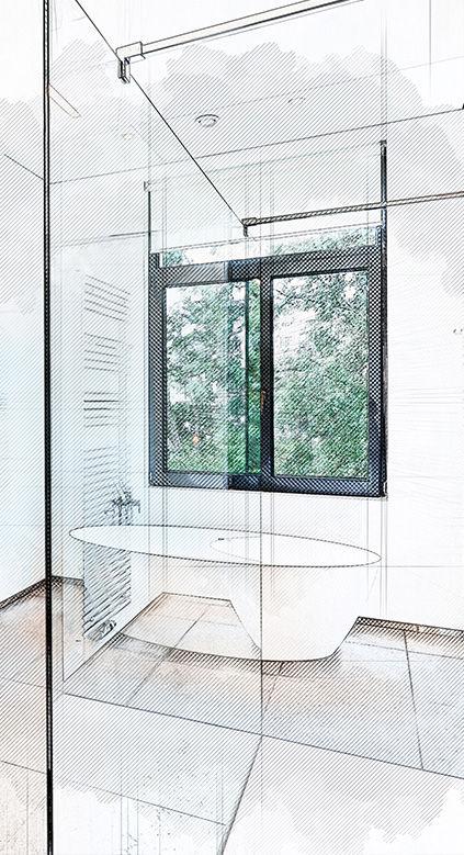 Badezimmer Sanierung, Komplettsanierung, Teilsanierung