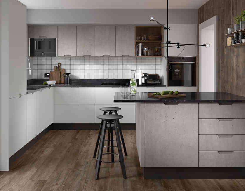 Acomb Gloss Concrete & Gloss White