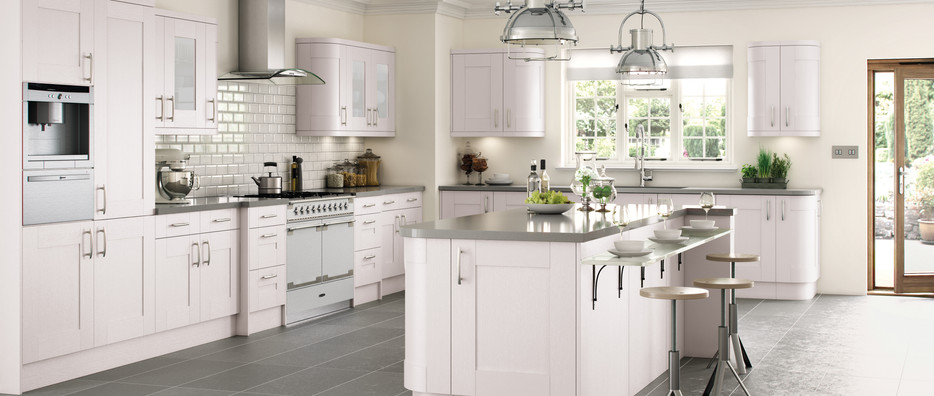 Cartmel Hand Painted in White Satin Glazed