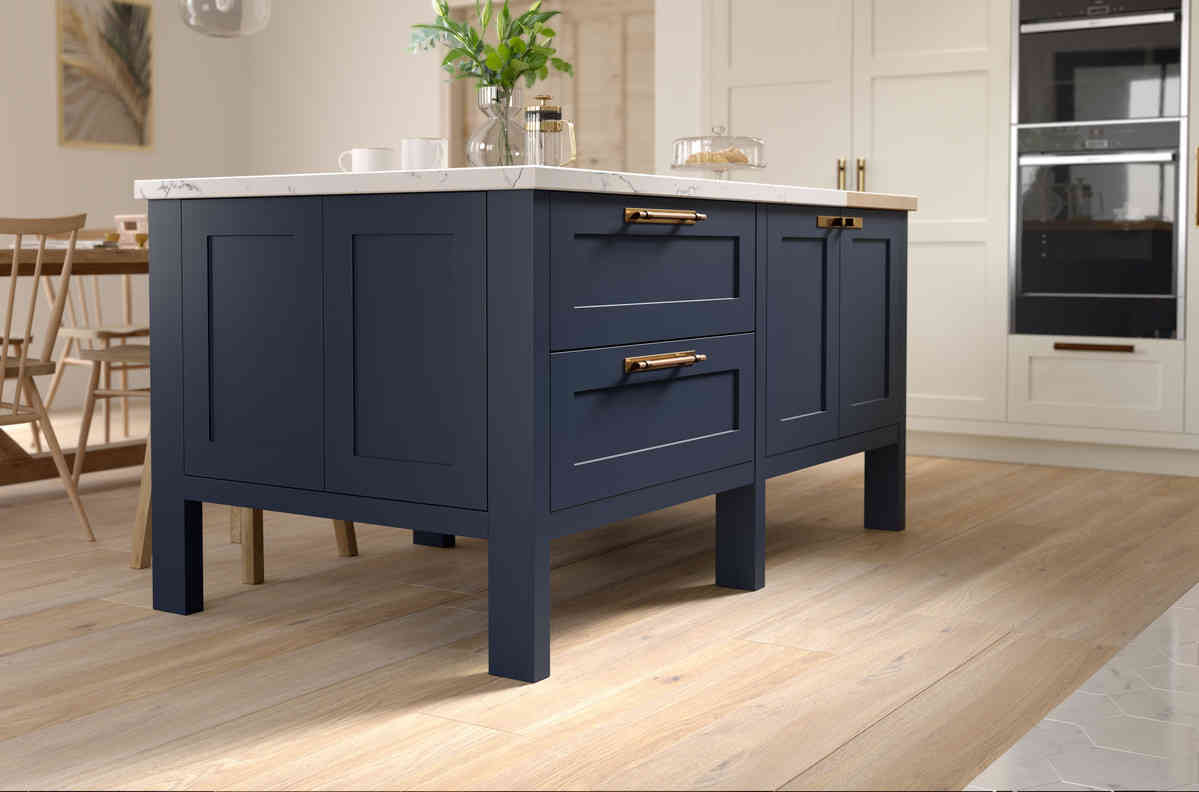 Hunton in Porcelain and Hartforth Blue