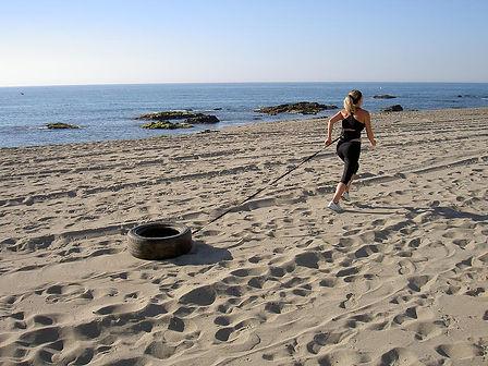 Female Personal Trainer Marbella Beach Session