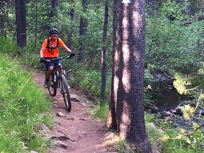 Junior mountain bike camp