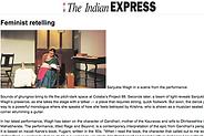 sanjukta wagh indian express article theatre