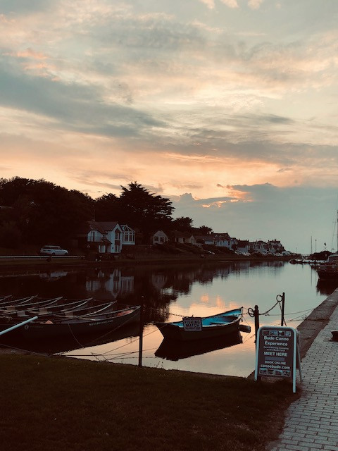 Bude Canal Sunset