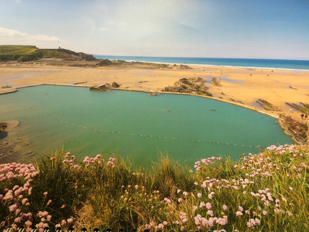 Bude Sea Pool in Spring