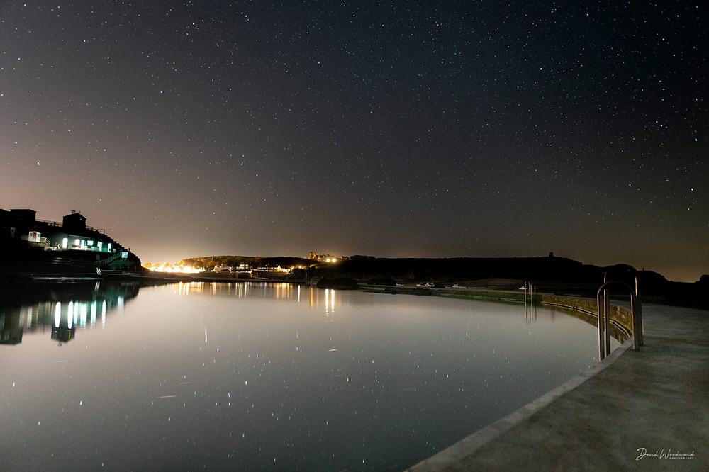 Starry night over Bude Sea Pool