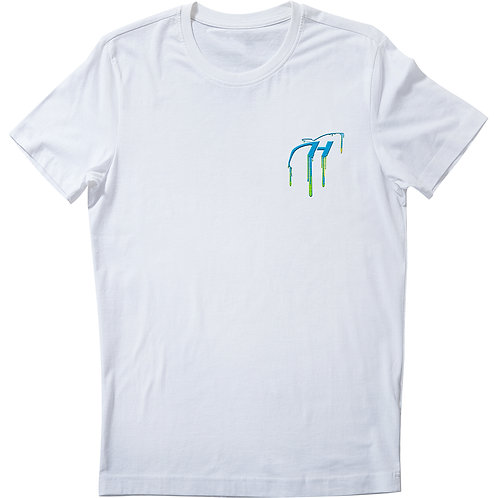 H Logo Drip Blue Embroidery