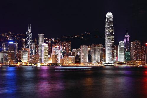 Гонконгский горизонт ночью