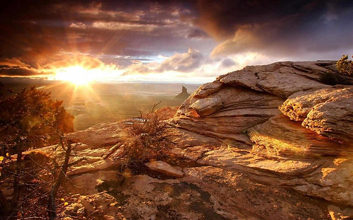 Долина на закате