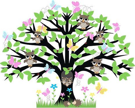 Совы на дереве