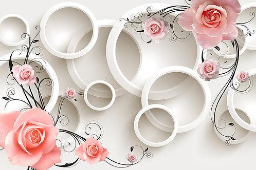 3D Круги с цветами