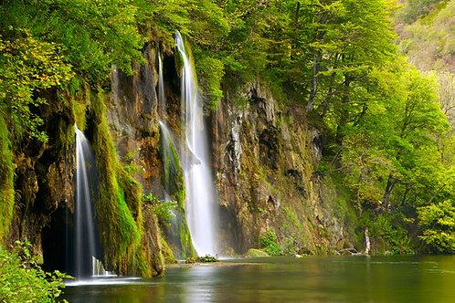 Водопад в лесу 411