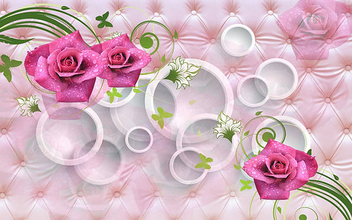 3D обои Розы и круги