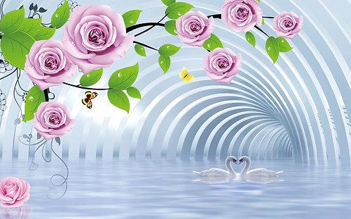 3D Розы над водой