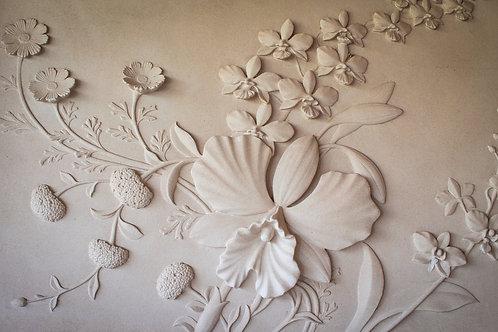 Цветы резные стены песчаника