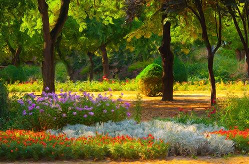 Цветочник в саду