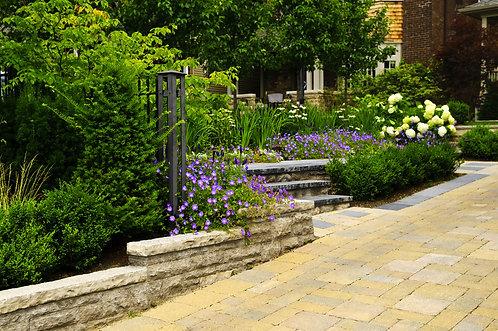 Ландшафтный сад и мощеные дороги