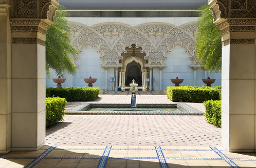 Марокканская архитектура Внутренний сад.
