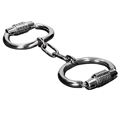 METAL HANDCUFFS WITH COMBINATION LOCK