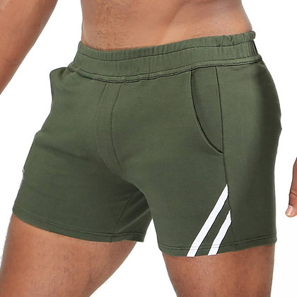Green Khaki Paris Short TOF at Bar Cru Store