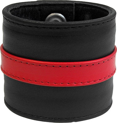 MrB Red Leather Wristband