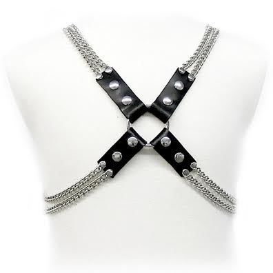 LEATHER & CHAIN HARNESS