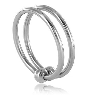 STEEL DOUBLE GLANS RING 30MM