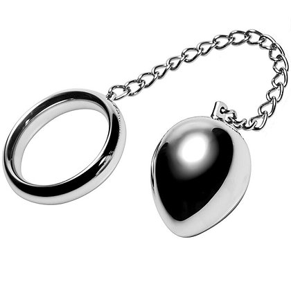 COCK RING 45MM WITH CHAIN & ANAL BALL