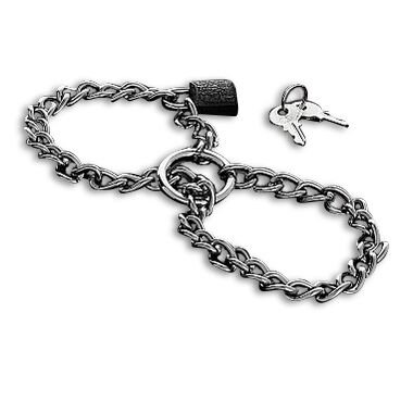 METAL CHAIN HAND RESTRAINT - STAINLESS STEEL